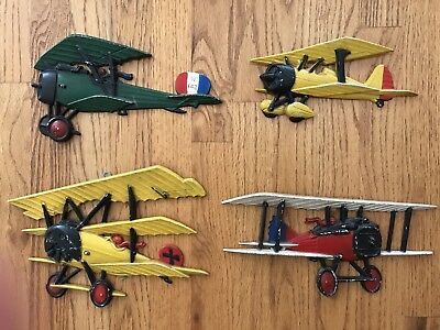Vintage Homco Set Of 4 Airplanes made in the USA planes