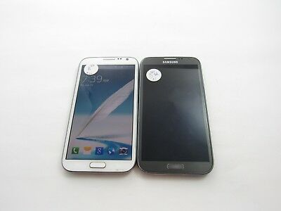 Lot of 2 Samsung Galaxy Note 2 SPH-L900 Sprint Check IMEI Grade D 4-1153
