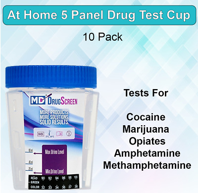 5 Panel At Home Instant Drug Test Kit - Urine Drug Test Cup - Free Shipping!