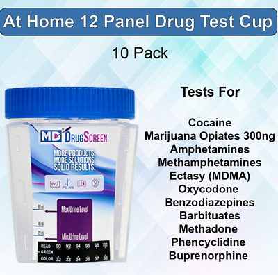 12 Panel Instant At Home Urine Drug Test Kits (10 Pack) - Free Shipping!