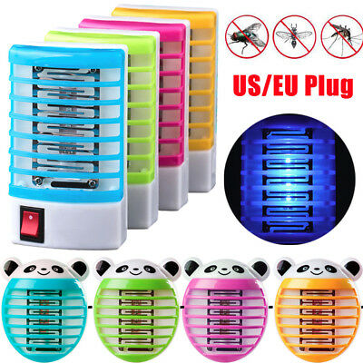 LED Socket Electric Mosquito Fly Bug Insect Killer Zapper Night Lamp Light C Hot