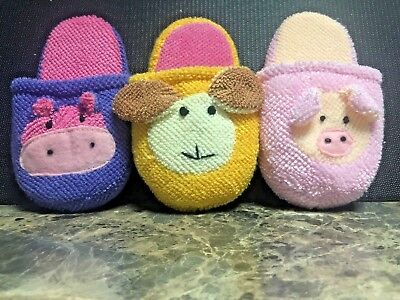 Bath Friend Childrens Bath time Slippers Set of 3