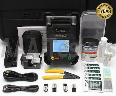FiTeL S-178A V2 SM MM Fiber Core Alignment Fusion Splicer w/ Cleaver S178 S178A