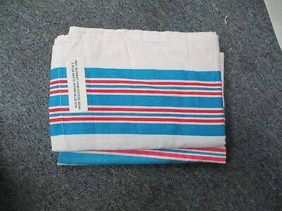 6 Soft Baby Infant Hospital Blankets 30X40 Stripe Receiving Swaddling Brand New