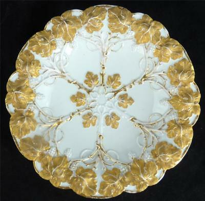 Meissen White & Gold Porcelain Charger Plate