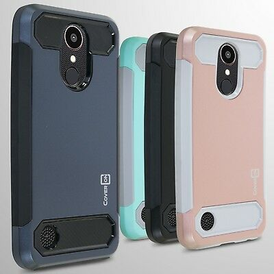 For LG K20 Plus / K20 V / K20V Case - Hard Armor Cover with Carbon Fiber