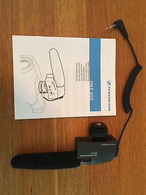 SENNHEISER MKE 400 Compact Video Camera Shotgun Microphone. Used a couple times.