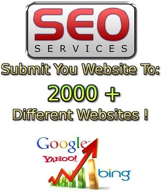 Submit your Website or Blog to 2500+ Websites! Backlinks Rankings SEO Submission