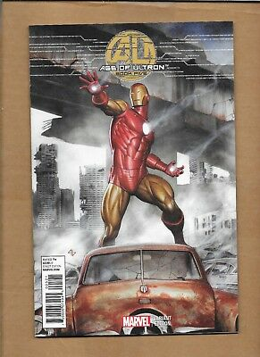 MARVEL AGE  of ULTRON BOOK #5 GRANOV IRON MAN INCENTIVE VARIANT COVER
