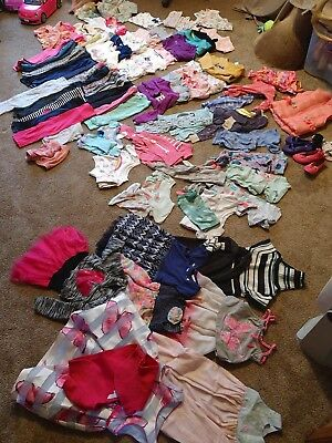 Huge Lot Girls 81 items 2T Summer Fall Clothes