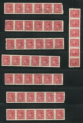 Canada #265 Used Coil Strips Of 6 Wholesale Lot
