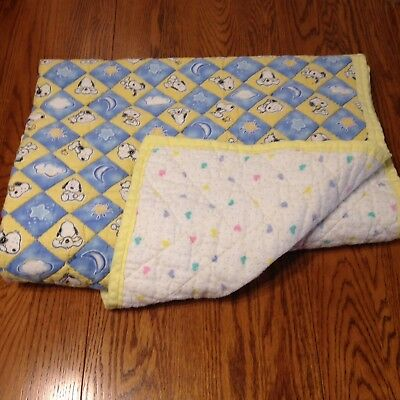 "Snoopy Peanuts Baby Quilt Blanket Handmade 41""  x 50"""