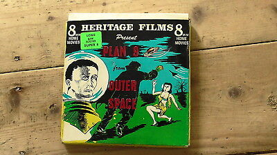 """200ft B/W SUPER 8mm SOUND CINE FILM """"PLAN 9 FROM OUTER SPACE"""""""