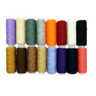 16PCs Multi Colour Sewing Thread Machine Line 100% Polyester 54 Yards/Roll