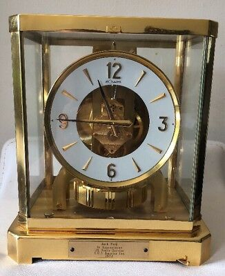 Vintage Atmos LeCoultre Perpetual Motion Mantel Clock W/Box 15 Jewels - Running!
