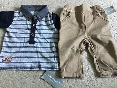 Age 3-6 Months Short Sleevetop And Elasticated Waist Chinos.BNWT