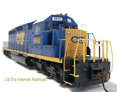 HO Scale Model Railroad Trains Layout Engine CSX SD-40 DC Locomotive 67024 Dark