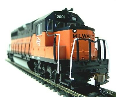 HO Scale Model Railroad Trains Layout Engine Milwaukee Road GP-40 DCC Equipped