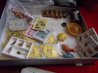 Dollhouse Artisan Handmade Estate Sale Box of Odds and Ends