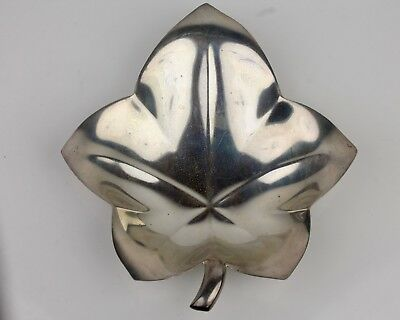 Vintage Tiffany & Co. 3.5OZT Sterling Silver Maple Leaf Shaped Candy Dish