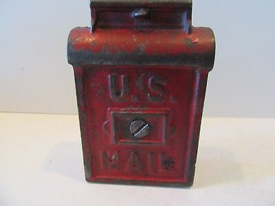 US  Mailbox Red (Antique Cast Iron Still Bank)