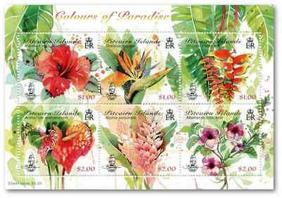 Pitcairn Isle 2018 Colours Of Paradise Flowers Sheet Pre-Order