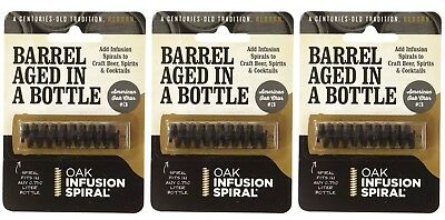 3 Pack - Barrel Aged in a Bottle Oak Infusion Spiral - Barrel Age Whiskey Gin