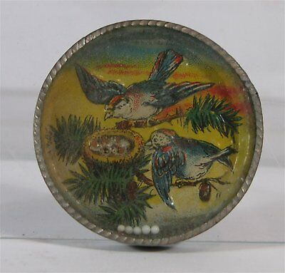 ca1900 HAND HELD EARLY DEXTERITY PUZZLE PENNY TOY GAME  - BIRDS AND BIRDSNEST