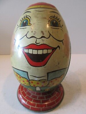 Humpty Dumpty (Antique Tin Lithograph Still Bank)