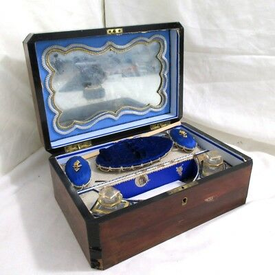 19th Century Victorian Antique Inlaid Sewing Box