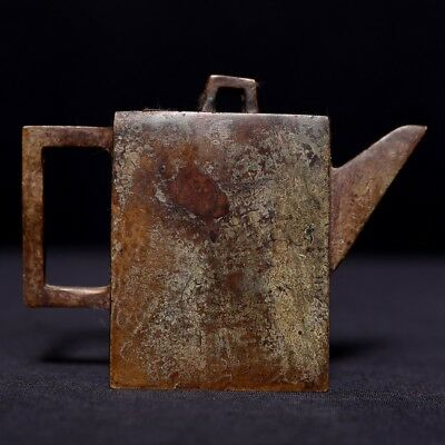 Spectacular Amazing Rare Old Antique Chinese Bronze Teapot Marked US423