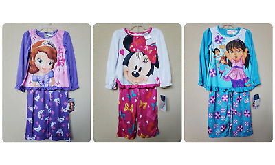 *nwt- Disney, Nickelodeon - Infant Girl's 2-Pc Licensed Ls Pajama Set