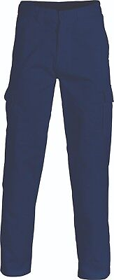 DNC Heavyweight Cotton Drill Cargo Work Pants Side Tool Mobile Pocket Stout Size