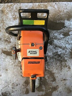 Ms880 stihl chainsaw runs great low hours all original great deal vs brand new