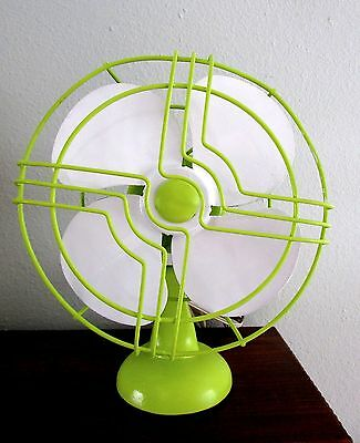 Vintage Lime Green and White Electric Fan Works