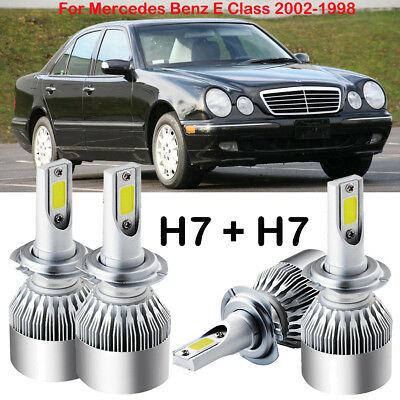 H7 CREE LED Headlight Kit Power Bulb Replace For Mercedes Benz E Class 2002-1998