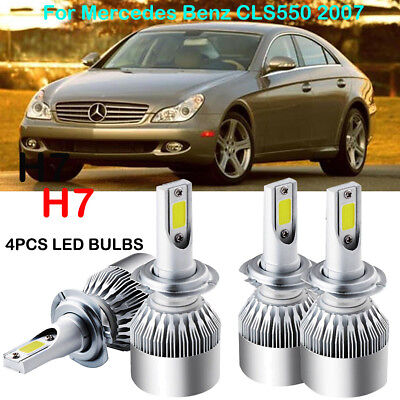 CREE H7 LED Headlight Kit Power Bulb 6000K Replace For Mercedes Benz CLS550 2007