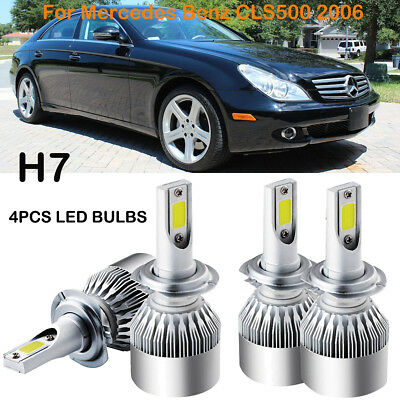 H7 LED Headlight Kits Hi/Low Power Bulbs Replace For Mercedes Benz CLS500 2006