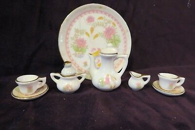 "Vintage Doll House Miniature for Roombox or Doll House 3"" Tray & Tea Set"