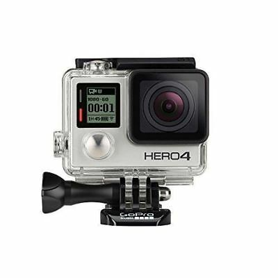 GoPro HERO 4 Silver 4K  Waterproof TouchScreen LCD w/ Accessories