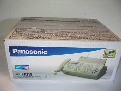 NEW Panasonic KX-FP215 Compact Plain Paper Fax/Copier - Digital Answering System