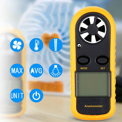 Air Wind Speed Digital LCD Anemometer Meter Tester Temperature Gauge Thermometer