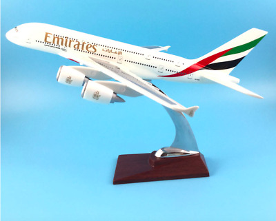 EMIRATES A380 LARGE  PLANE MODEL BOEING  AIRPLANE APX 43cm SOLID RESIN