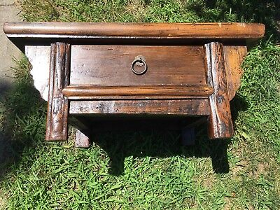 Chinese Ming/Quin Dynasty Elm  Altar Or Low Table 16th to 17th Century