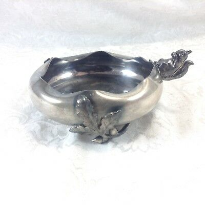 Tufts Silverplate Small Trinket Dish Squirrel Figural Vintage Antique