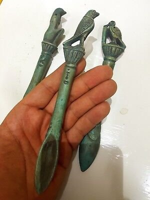 Ancient Egyptian Antique Amulet 3 spoons Pharaonic Ancient Art & Antiquities
