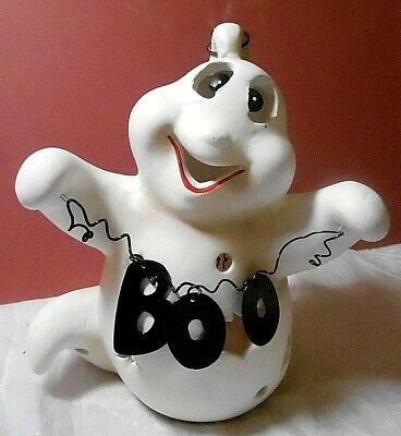 GHOST Hanging  Lantern  Candle Holder Ceramic  Halloween