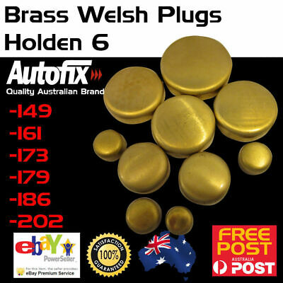 New Holden 6 Red 149 186 202 Brass Welch Welsh Freeze Core Plug Set Gallery Kit