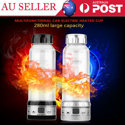 12V 24V Car Electric Kettle Auto Travel Heated Cup Water Heater Heating Bottle