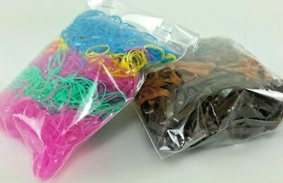 Fancy Colorful Mini & Small Rubber Rope Elastic Girl hair Band 2 Packs Combined